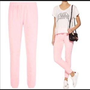 New! WILDFOX pink jogger pants